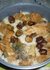 秋鮭のアラの焼き鮭と焼き栗の炊き込みご飯