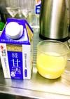 梅昆布茶と甘酒豆乳〜♪