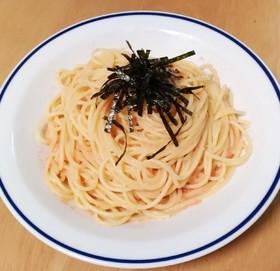 皿一つで出来る!たらこスパゲッティ