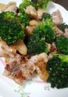 鶏もも肉とブロッコリーの塩ガーリック炒め
