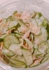 きゅうりとツナ缶の和風マヨサラダ