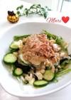 水菜しめじツナの健康サラダ