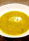 旬のパンプキンとケールのスープ