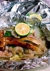 簡単!のせて焼く♪松茸と豚肉のホイル焼き