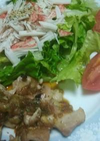 魚焼きグリルで❗チキンステーキ(^q^)