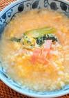 チンゲン菜とベーコンの中華スープリゾット