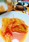 余ったトマトスープでロールキャベツ