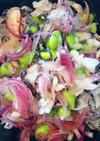 ミョウガと枝豆のご飯