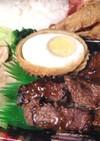 ひと口牛ステーキ&鶏焼きしゃぶ弁当