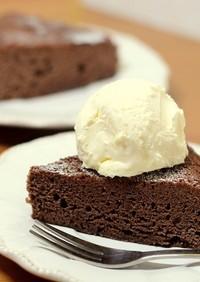 炊飯器で簡単★ブラウニー風ココアケーキ