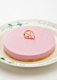 レンコンと紫イモのレアチーズケーキ