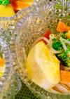 ❤️柿ブロッコリー他野菜の胡麻ドレサラダ