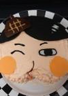 おしり探偵立体ケーキ