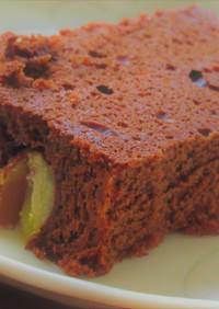 しっとり濃厚!栗のチョコレートケーキ