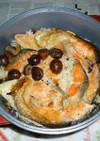 無加水鍋でサーモン+焼き栗の炊き込みご飯