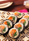 彩り野菜たっぷり!韓国風海苔巻き