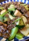 牛肉とエリンギとチンゲン菜の中華炒め煮♪