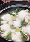 白だしで作る|水炊き風みぞれ生姜鍋