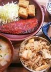 夕飯!鮭としめじの炊込みご飯(リキンキ)