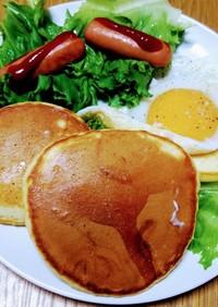 巣ごもり卵のお食事パンケーキ