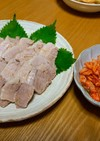 茹で豚とキムチ