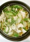 豚肉と大根の鍋♪簡単あっさり鍋スープ