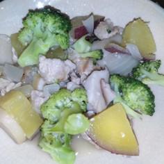豚とさつまいもの塩麹バダー煮