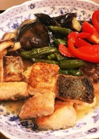 少しピリッと☆  鮭と野菜の焼きびたし
