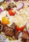 野菜たっぷり☆鶏胸肉のネギ塩ダレホイル焼
