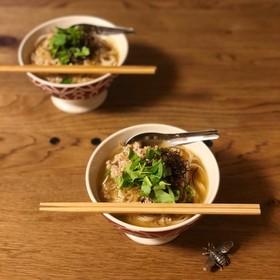 ちゃちゃっと⭐︎搾菜胡麻汁あったか素麺