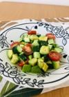 アボカドとミニトマトときゅうりのサラダ