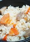 里芋と人参の炊き込みご飯