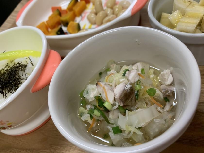 [離乳食後期〜]はまちと白菜のだし煮