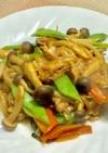 豚肉とブナシメジのピリ辛味噌炒め