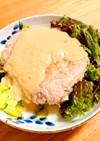 災害、震災、停電時に《豆腐ハンバーグ》