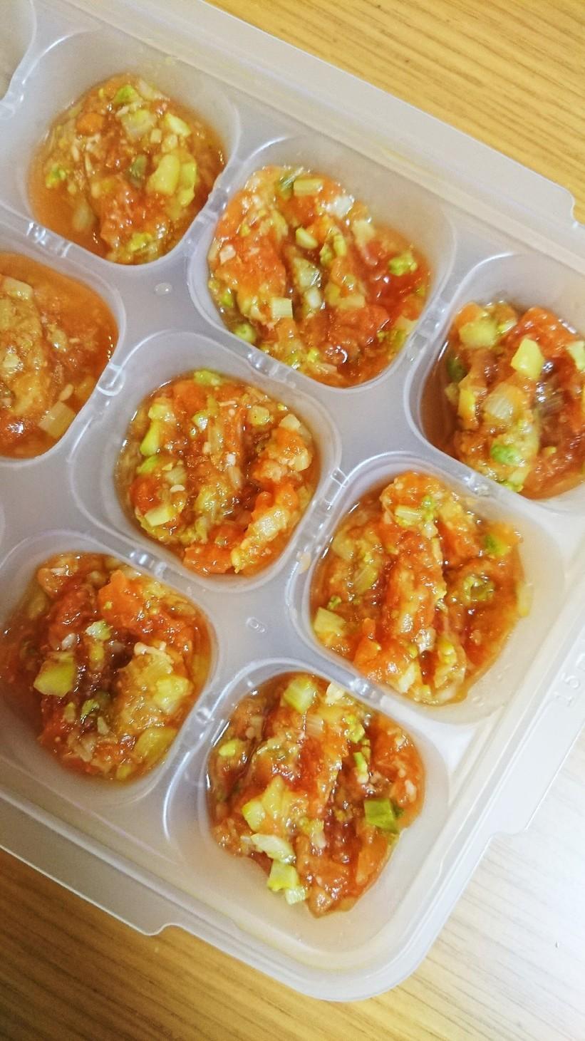☆離乳食中期☆アスパラとトマト煮