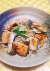 鮭と野菜の塩麹炒め