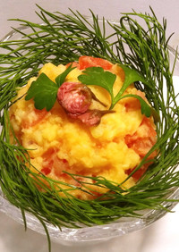 桜フレーバー  トマトのポテトサラダ