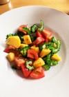 ゴーヤと柿のサラダ