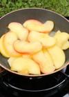 りんご狩りで、簡単、焼きリンゴ