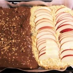 りんごとチョコの天板ケーキ