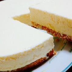 生クリーム不要!濃厚簡単レアチーズケーキ