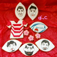 ラグビー日本代表をアイシングクッキーで