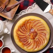 フライパンで!りんごのおさつチーズケーキ