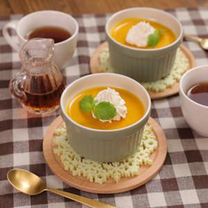 レンジで簡単♪ヘルシーかぼちゃ豆腐プリン