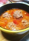 肉団子とキャベツのトマトスープ‼️