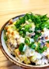 挽肉ストックで簡単♪親子丼風⭐卵とじ丼