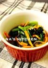 お弁当に♪♪レンジで小松菜と人参の煮浸し