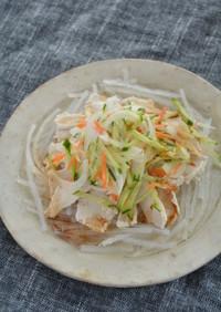 鶏しゃぶと糸寒天のサラダ
