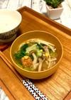 水から煮るキノコ達☆レタス味噌バタスープ